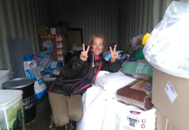 Futterspenden sind gut angekommen